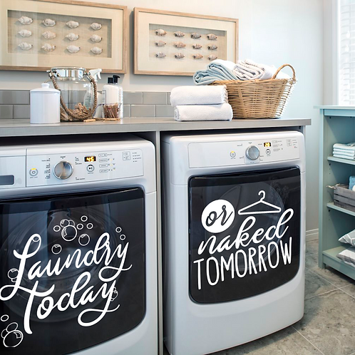 Laundry Today Decals, Set of 2