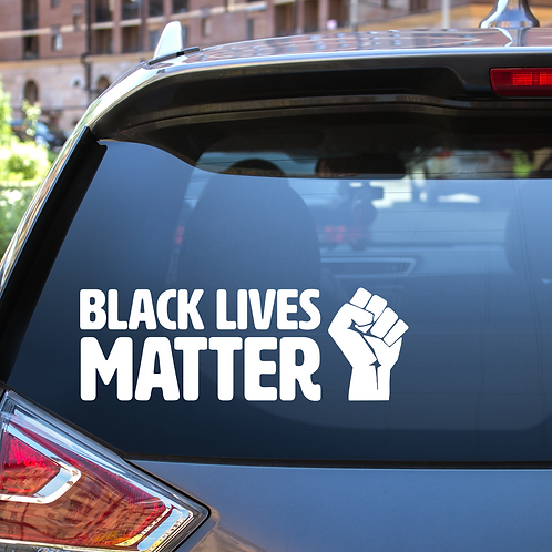 Black Lives Matter Bumper Sticker Vinyl Decal Anti-Racism BLM Protest Laptop car