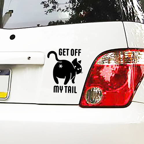Get Off My Tail Cat Butt Decal
