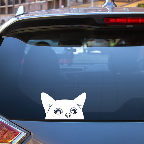Cat Peek Decal