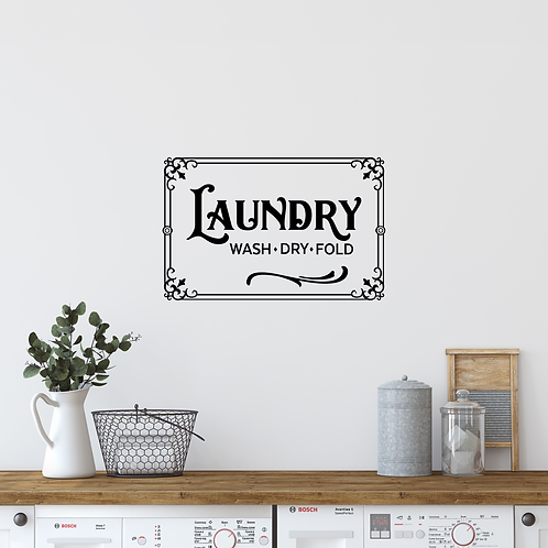Laundry WDF wall decal