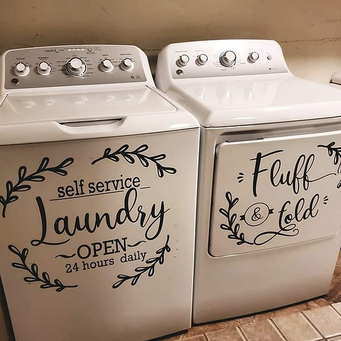Farmhouse Laundry Decals, Set of 2