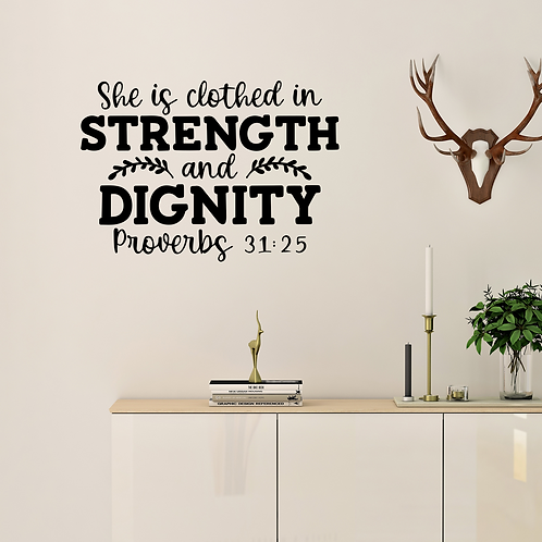 Proverbs 31 Bible Quote Wall Decal