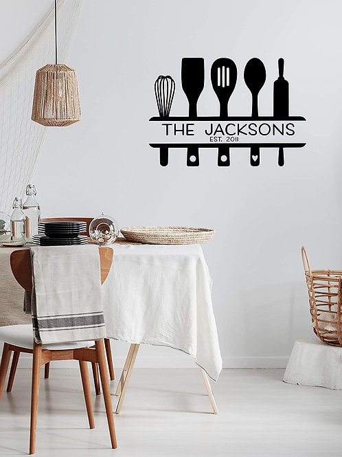 Family Name Kitchen wall decal