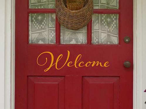 Welcome Door Vinyl