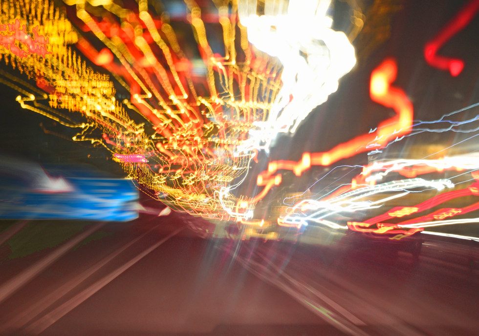 Light trails road 4 by Phase Drive Media