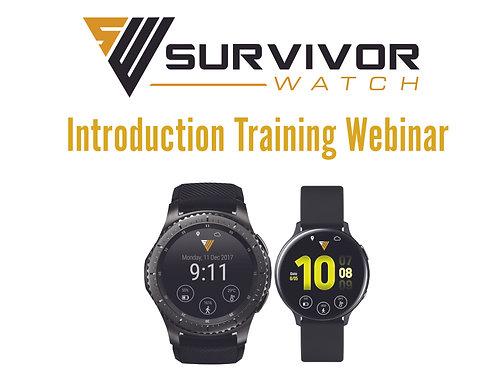 Survivor Watch Introduction Training Webinar