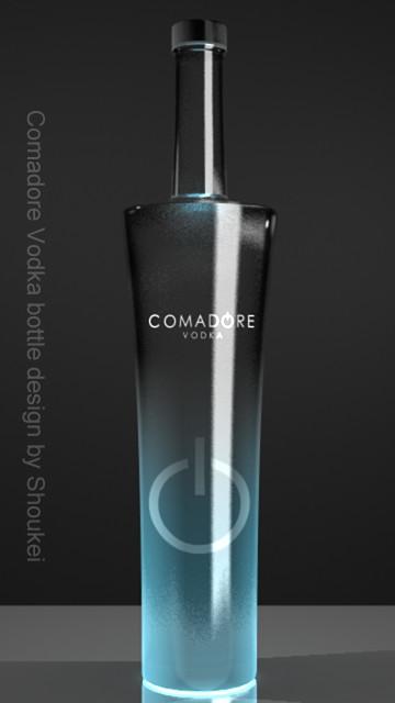 Vodka bottle (blue)