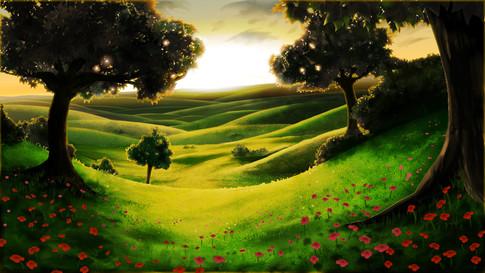 Peaceful Meadow (sunset)