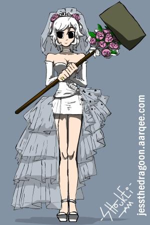 Ramona Flowers in Wedding Dress