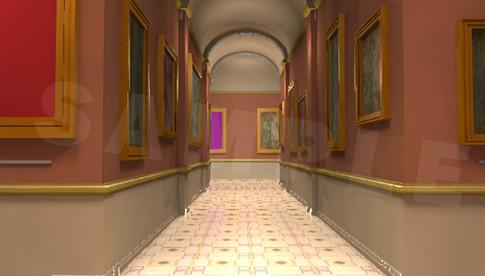 Gallery hallways