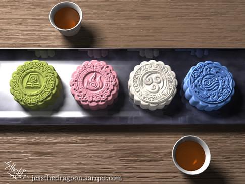 Avatar theme mooncakes