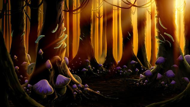 Enchanted Woods (sunset)