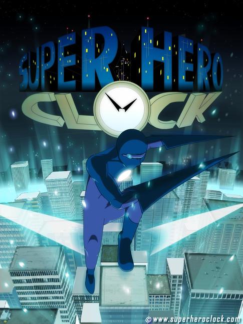 Super Hero Clock poster