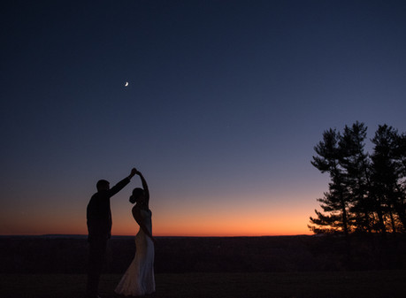 Sunset wedding at Natirar Mansion
