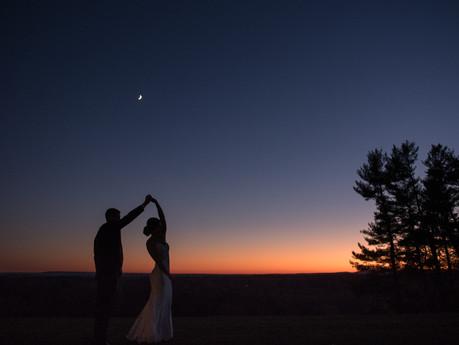Sunset wedding at Natirar Mansion