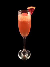 Mimosa, Blood Orange Mimosa, Sorbet Mimosa, Champagne mocktail, non-alcoholic champagne, faux champagne, virgin champagne