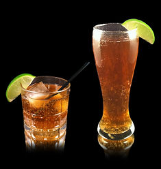 Dark and Stormy, Dark 'n Stormy, Dark and Stormy mocktail, Ginger beer mocktails, ginger beer, ginger beer cocktails