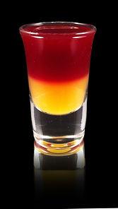 Redhead Shot, The Redhead, Redheaded slut, nonalcoholic redheaded slut, alcohol free drinks