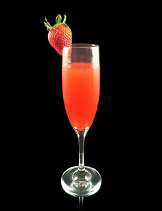 Strawberry Bubble, nonalcoholic champagne, virgin champagne, champagne cocktails, wedding drinks