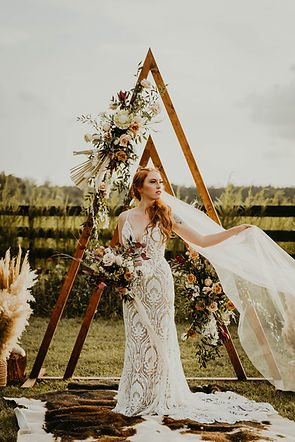 Bohemian Double Triangle Arch