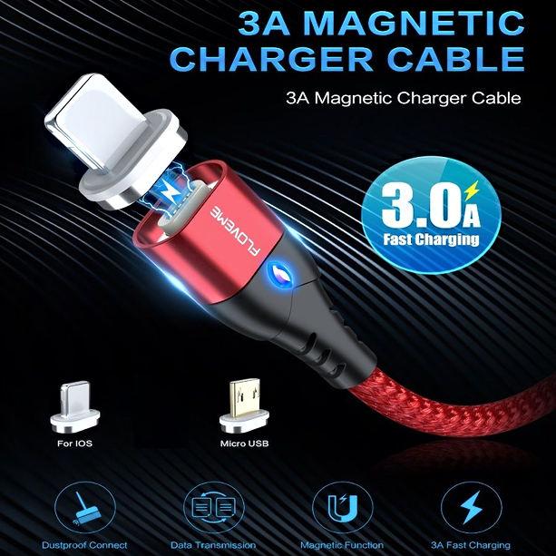 cable de micro chargeurmagnetique 3A.