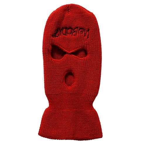FAMOUS NOBODYS Logo Ski Mask