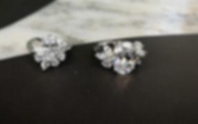 Silver jewelry, diamond simulant