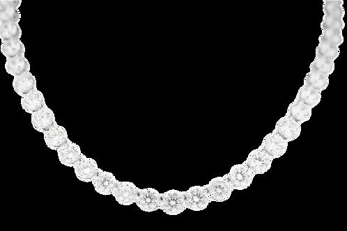 Gradual tennis necklace