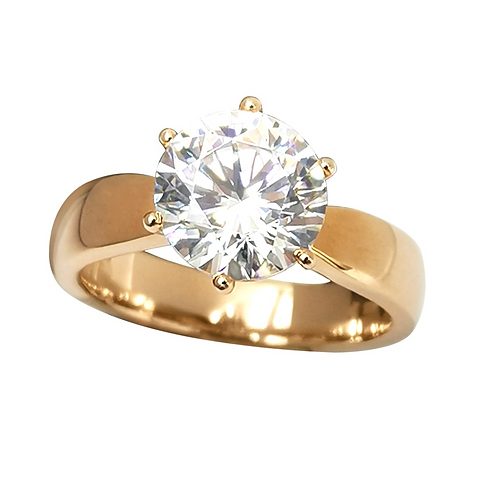 2.80ct Rose gold solitaire