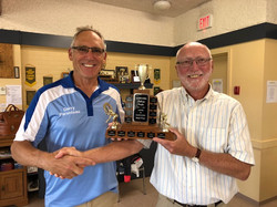 Loyd Shea LLBC presents Trophy to TLBC