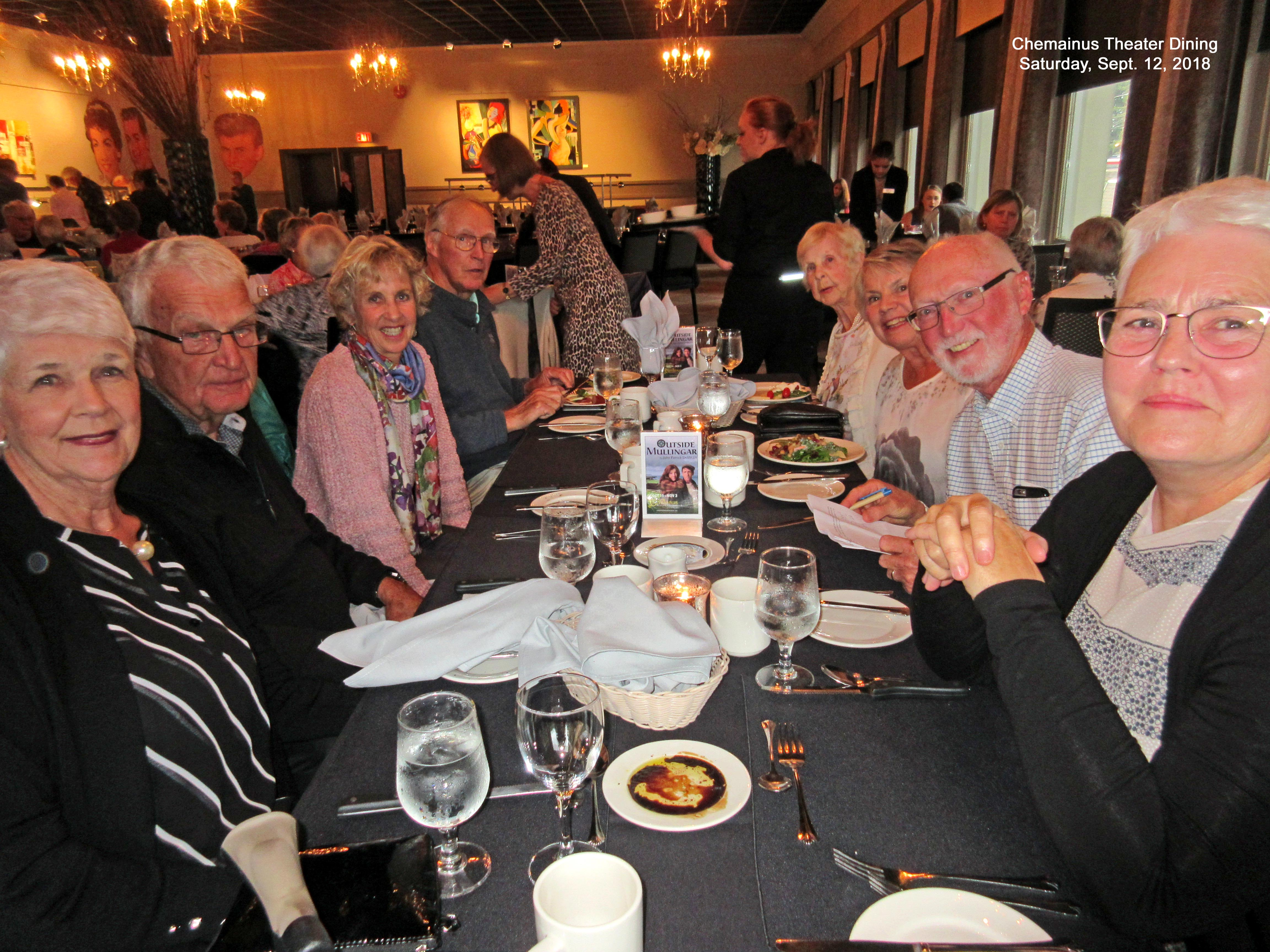 Table 1-Chemainus Theater.