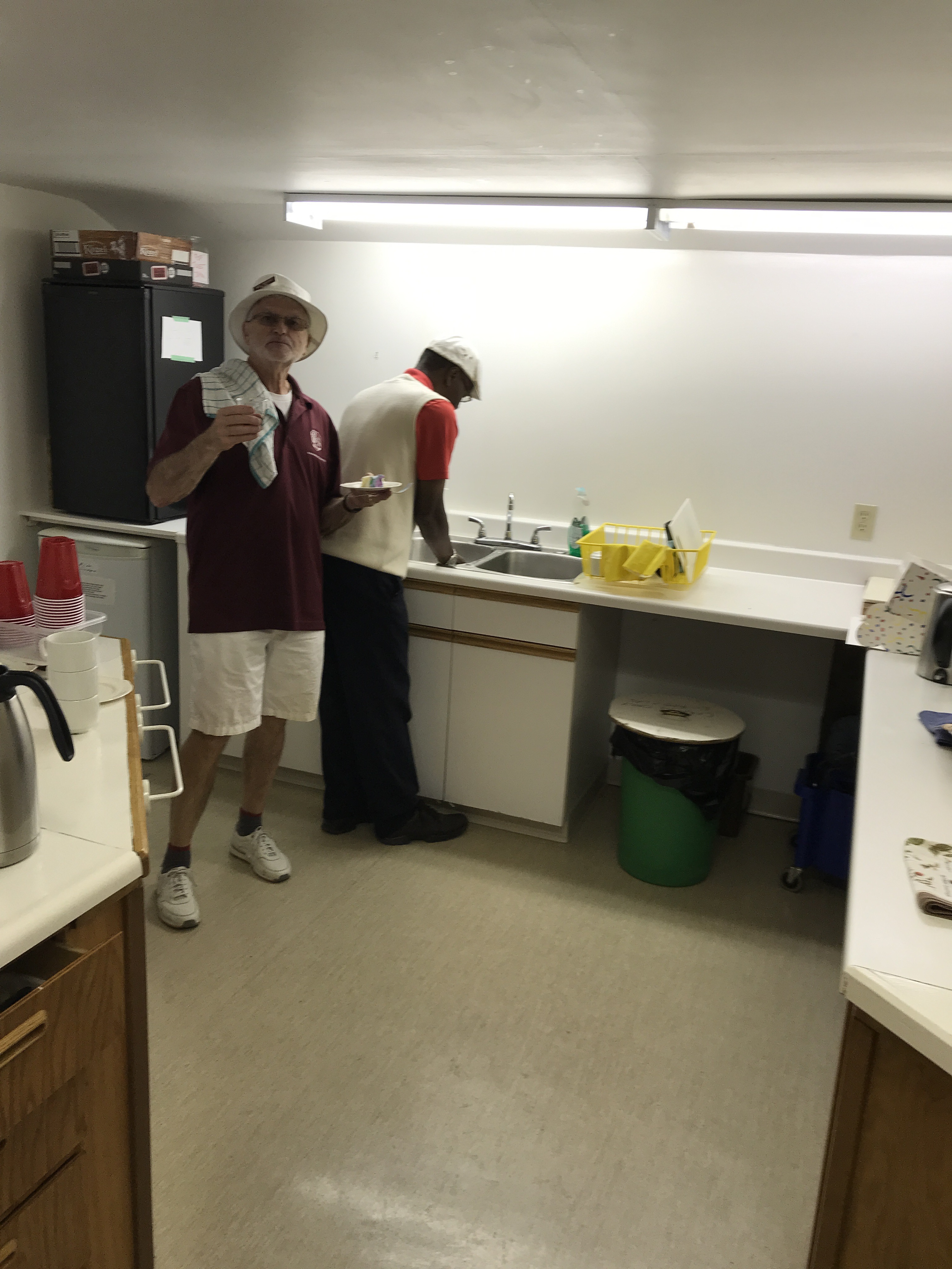 Only Men Kitchen workers!