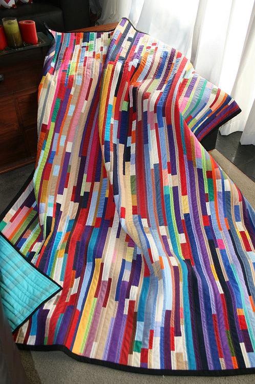 Coloured Strippy Quilt