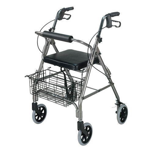 Ultra Lightweight Rollator With Curved Backrest