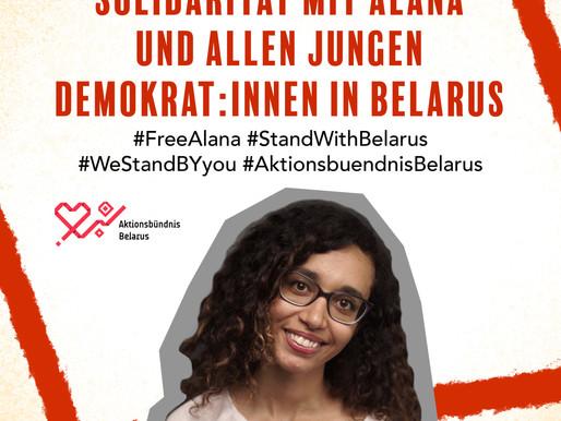 Alana Gebremariam - Ein Gesicht von vielen hinter den Protesten in Belarus