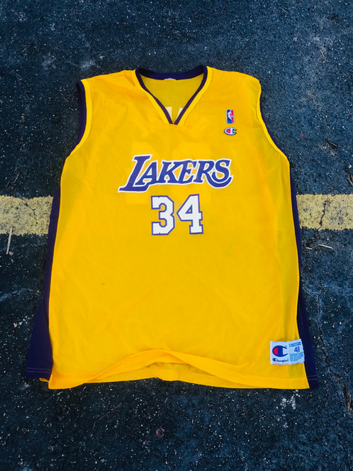 3e1d672ab66 48 CHAMPION SHAQUILLE O NEAL LOS ANGELES LAKERS JERSEY
