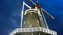 Holland Morning Windmill