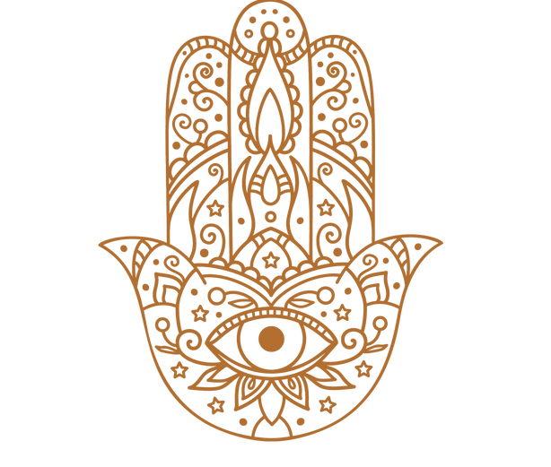 The Hamsa protects it's wearer by blocking out bad vibes and bad energy, and welcoming in postive vibes and positive energy