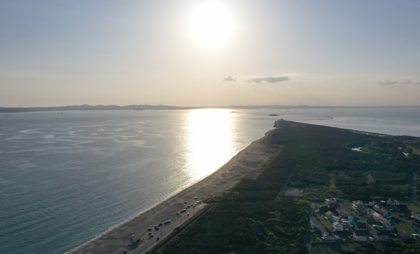 富津 海岸 ドローン写真