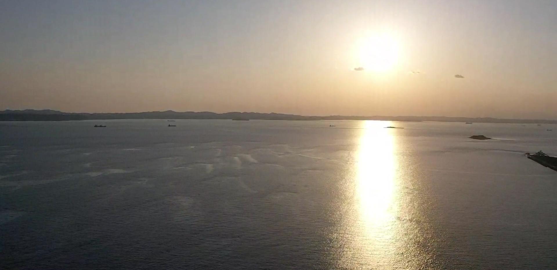富津 海岸 ドローン動画