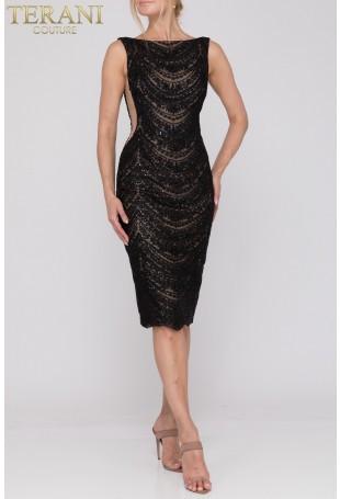 Black Cocktail Dress by Terani