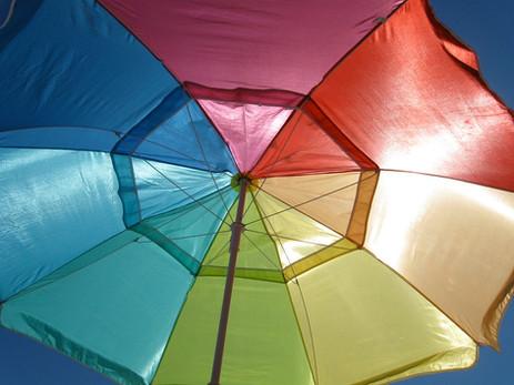 Rainbow umbrella