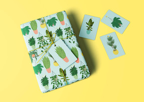 House Plants Gift Wrap