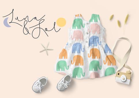 Branding for Children's clothing brand 'Luna & Sol'
