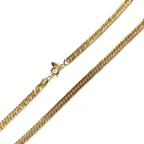 Corrente Groumet Dupla 60cm Banhada a Ouro 18k