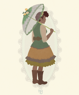 Rainy Day Forest Girl