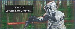 Star Wars & Constellation City Print