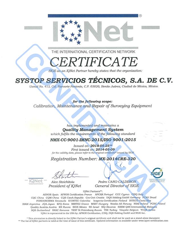 IQNET SYSTOP SERVICIOS TÉCNICOS