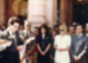 1990_entrega de ambulancias ao Gov Menem